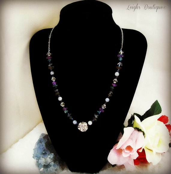 Gemstone Reiki Chakra Necklace Choker Style