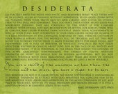 DESIDERATA 11x14 Print - Motivational - Multiple Color Options - catalyst54
