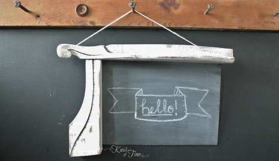 Architectural Chalkboard - Created from Salvaged Antique Wooden Chair