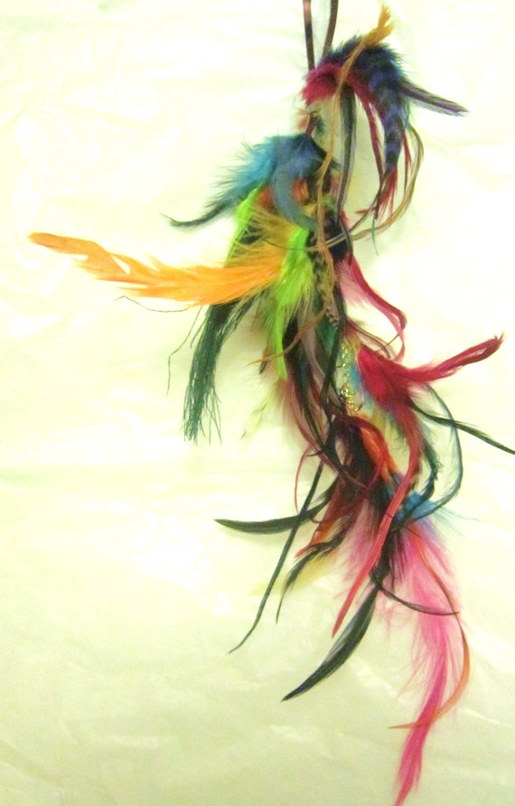 Life Is A Carnival Hand Dyed Colorful Feather Hair Extension Clip In