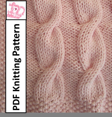 Knit Cable Afghan Pattern : KNITTED CABLE BABY BLANKET PATTERNS 1000 Free Patterns