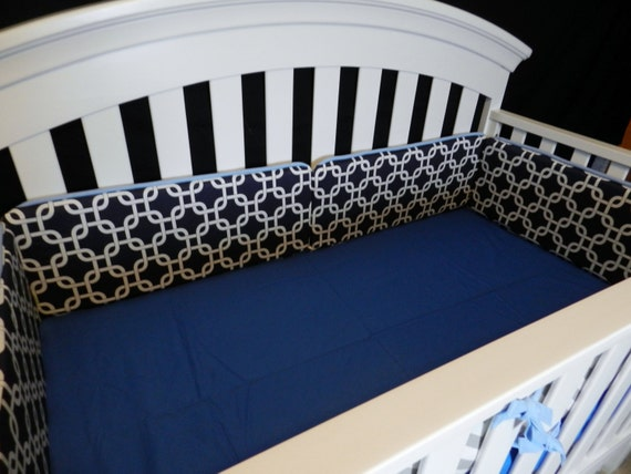 Upgraded Bumpers/Skirt (Modern Baby Bedding Crib Set)
