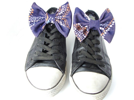 Vintage Bow Shoe Clips Sneakers Shoe Laces Accessories Earth Friendly Fashion