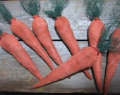 Primitive Carrot Bowl Fillers Garden Vegetables  Set of 3
