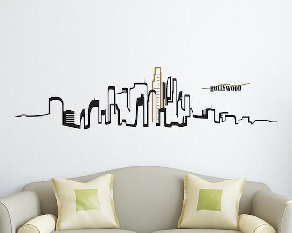 Skyline Wall Decal Los Angeles Skyline Vinyl wall decal