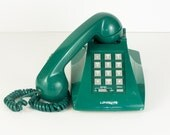 Vintage Emerald Green Push Button Telephone - esther2u2