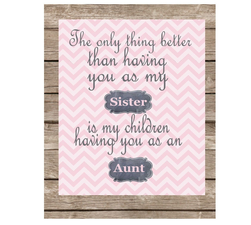 Personalized HIGH QUALITY ART Gift for Sister or Aunt - Inspirational Quote- Poster