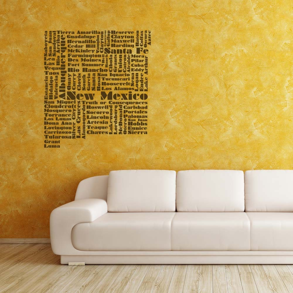 New Mexico Word Cloud Vinyl Wall Lettering by VinylWallAdornments