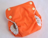 SECONDS SALE Small Orange Trimsies All-In-One Bamboo Cloth Diaper SECOND Quality