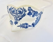 Precious: Blue and White Masquerade Mask - SocietyCarnivale