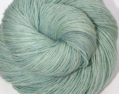 Hand Dyed Fingering/Sock Yarn Singles, 100% Superwash Merino, Mist - Quaere