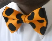 Black Dots Burnt Orange Bowtie