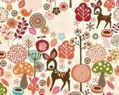 Adrienne Looman Fabric - 1 Metre Deerfield Deer Characters in Multi - FreshFabricsAust