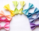 Pick your color--set of 2 felt bows (pink, hot pink, peach, yellow, sea green, lime, turquoise, blue, cobalt, lavender, purple) - lbratt