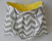 Gray Chevron Purse Handbag Diaper Bag Grey Twill Storm Zig Zag - Wishfulgifts