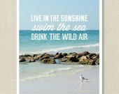 Live in the Sunshine 8x10 Print - BelovedAndCo