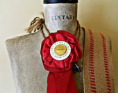 Red hot vintage horse show ribbon - luciwallisshop