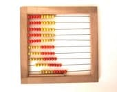 Midcentury German Abacus- yellow and red - vintageekho