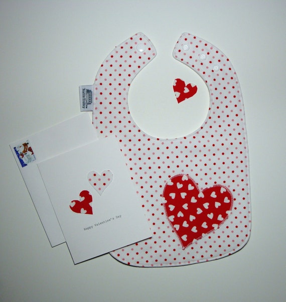 Valentine Baby Bib and Valentine Card