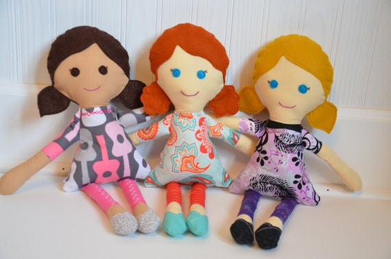 Custom Rag Doll - Cloth Doll - OOAK Personalized Waldorf Inspired Fabric Doll