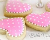 Forever Love Heart Cookies 1 Dozen (12 cookies) Valentine's Day - Wedding - Anniversary - BellaDolces