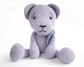 Teddy bear PATTERN - Crochet pattern - Amigurumi tutorial with photos - Easy bear pattern - EN-025