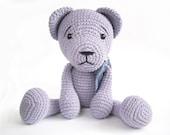Teddy bear PATTERN - Crochet pattern - Amigurumi tutorial with photos - Easy bear pattern - EN-025