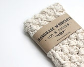 WASHCLOTH - 100% COTTON, handmade washcloth, wash cloth, crochet washcloth - RightSoap