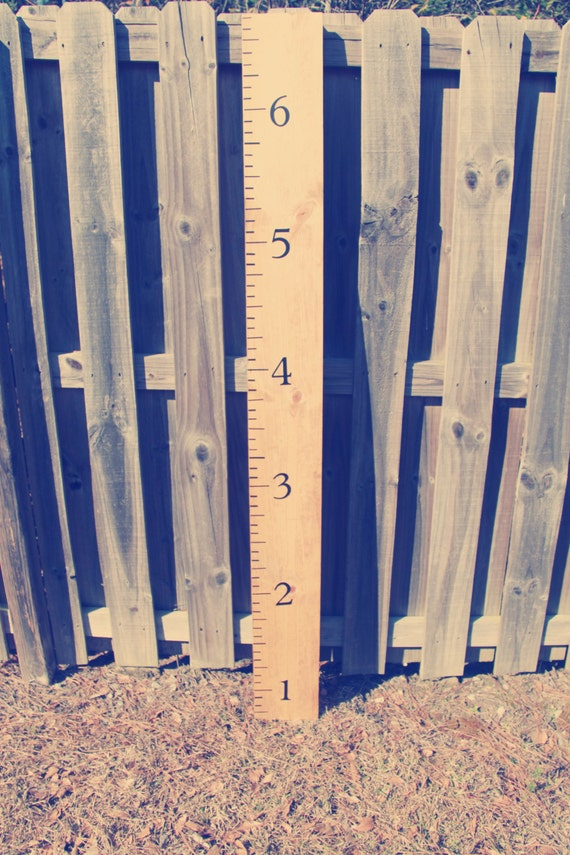 SHIPPING INCLUDED: Growth Chart Ruler - Oversized - Vintage - Wooden