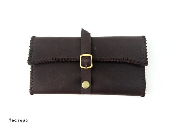 Hand Stitched Leather Women Wallet - SM06