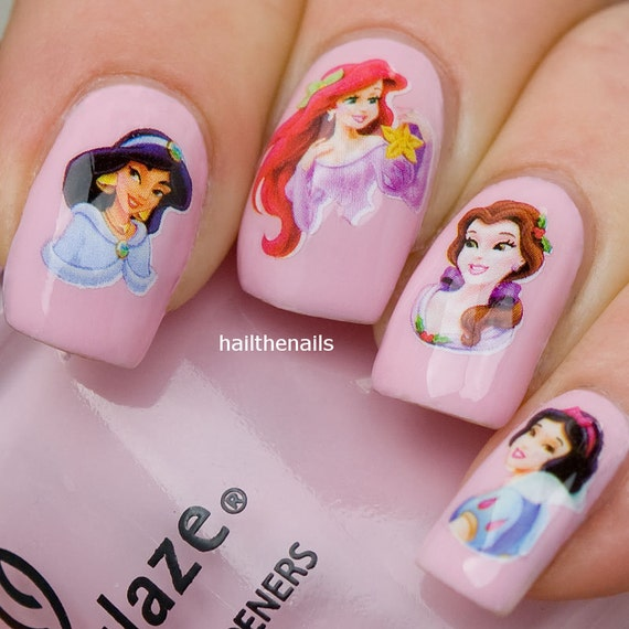 Nail PAKKER Nail Art Water Transfer Decals - Disney Prinsesser YD022