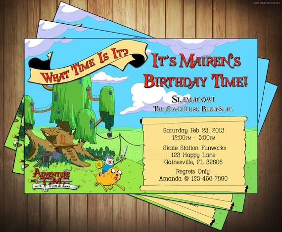 Novel Concept Designs Adventure Time Invitations