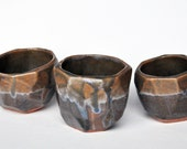 Faceted Cups (Set of 3) - HalfLightHoneyStudio