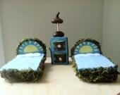 Fairy woodland blue sunshine twin bed set - LightofdayCreations