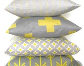 Cushion - Yellow Cross - IndigoDesignsAus