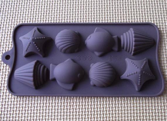 baking ice chocolate Seashells Silicone mold for soap