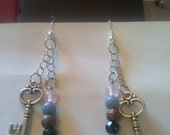 Double dangle key with beads