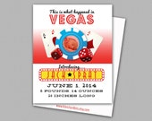 Custom Digital Baby Boy or Baby Girl Photo Birth Announcement, 5x7 PRINTABLE - BA8: What Happened in Vegas