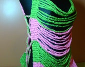 Crochet Tank Top - Cover up - AKA Sorority Colors - Custom Colors Available