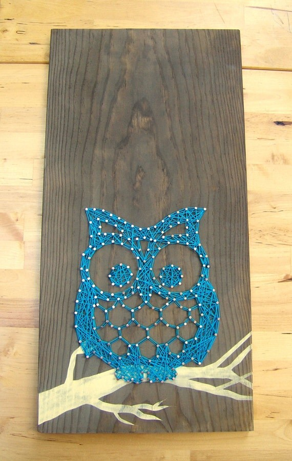 Modern String Art Wooden Tablet - Adorable Owl