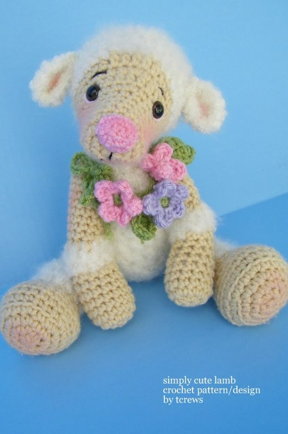 Lamb Crochet Pattern by Teri Crews PDF Format Instant Download