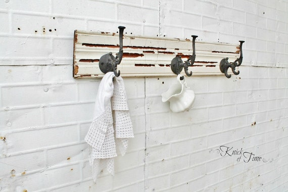 Reclaimed Wooden Coat Rack - Coat Hook, Jewelry or Key Wall Hook - Created from Antique Salvaged Wood