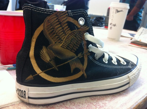 Hunger Games Custom Painted Converse Shoes