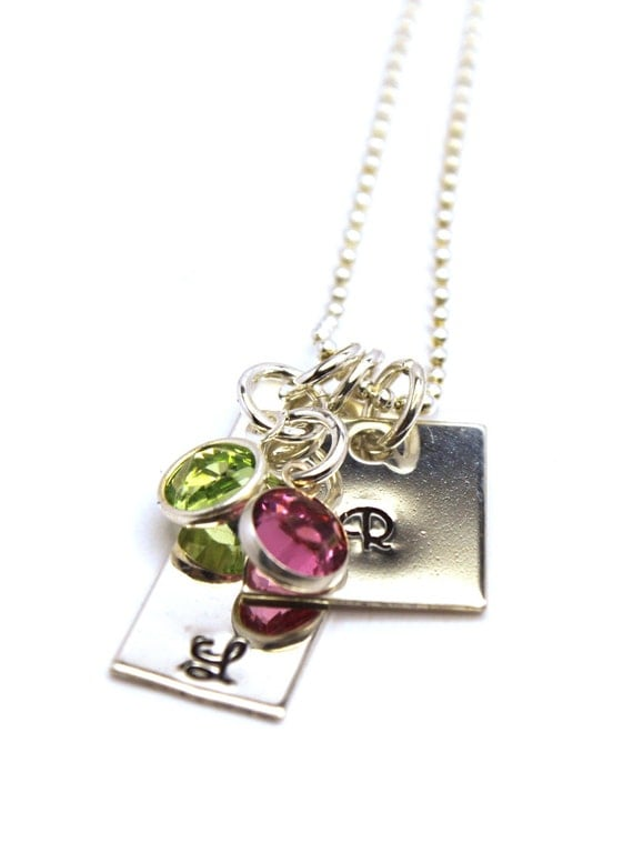 Gorgeous Mommy Jewelry is Personalized with Kids Initials and Birthstones