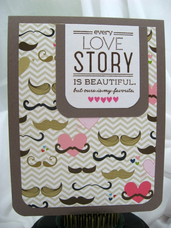 Mustache Valentine's Day Card