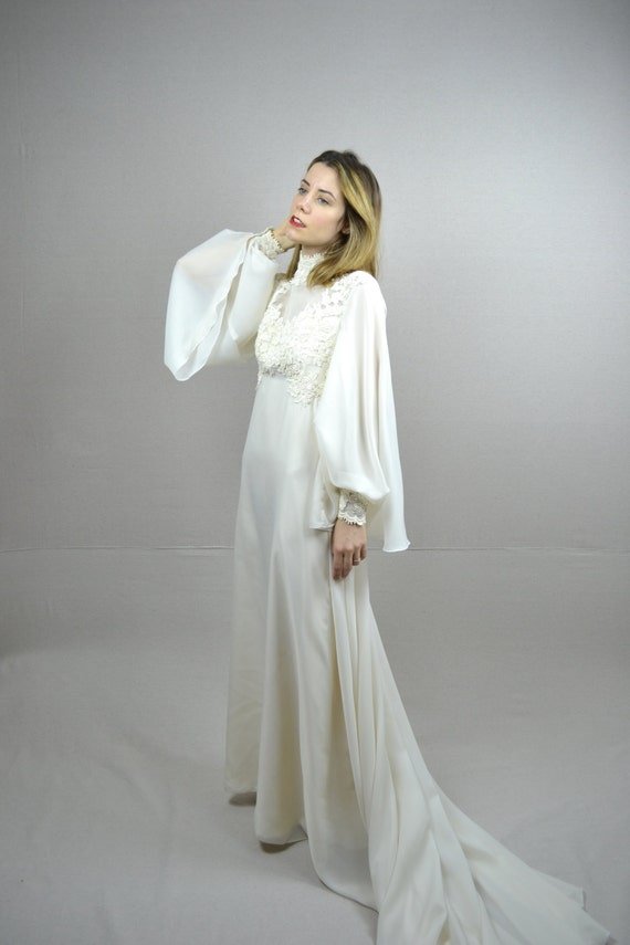 70s wedding dress / 1970s wedding dress / Angelica
