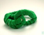 Handmade Emerald Green Woven Fabric Rope Bracelet