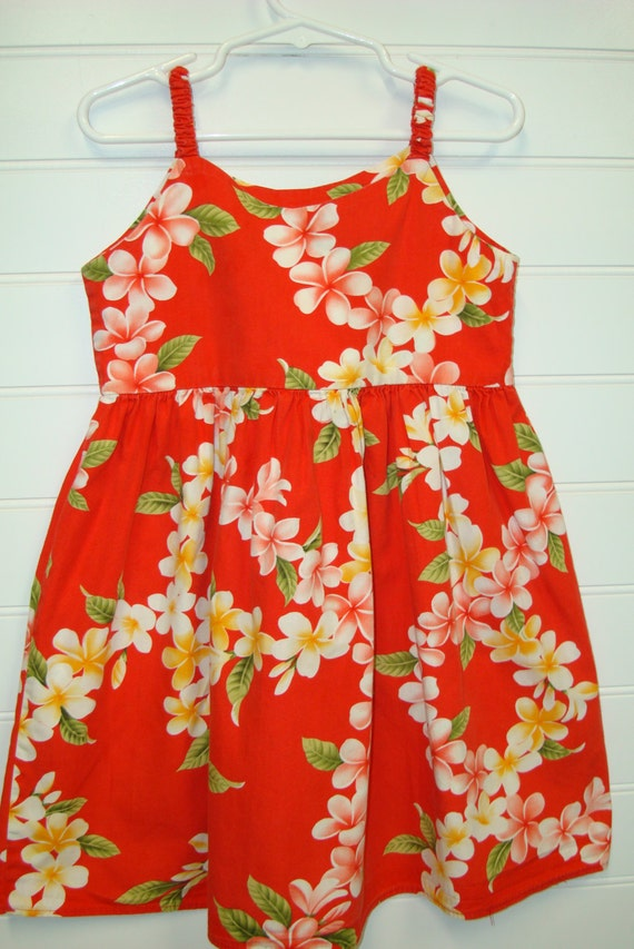 Vintage Toddler Clothes, Girls Hawaiian Dress