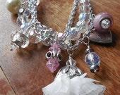 Beaded Mulit-Strand Charm Bracelet
