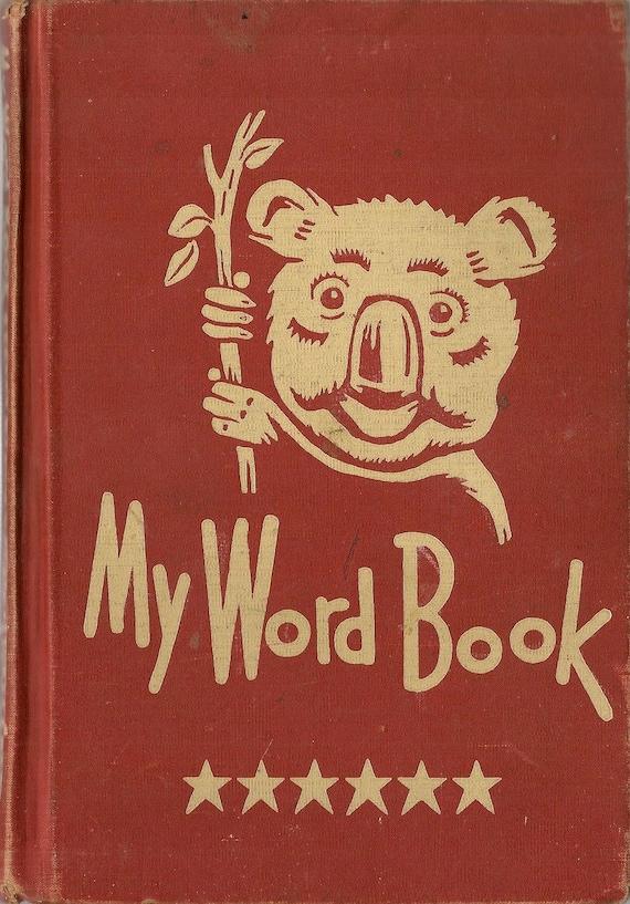 VINTAGE KIDS BOOK My Word Book